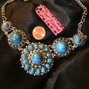 """India Blue Necklace 18.5"""""""